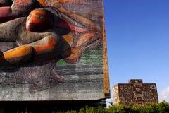 Edificio principal en UNAM foto de archivo