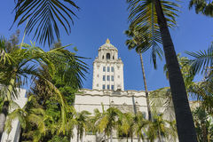 Edificio principal hermoso del ayuntamiento de Beverly Hills Fotografía de archivo