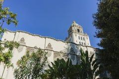 Edificio principal hermoso del ayuntamiento de Beverly Hills Fotos de archivo libres de regalías