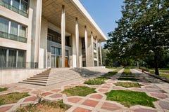 Edificio principale del palazzo di Niavaran costruito nel 1968 nel giardino della famiglia reale a Teheran Immagine Stock Libera da Diritti
