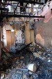 Edificio quemado Imagen de archivo libre de regalías