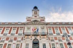 Edificio Real Casa de Correos en Madrid, España Imagenes de archivo