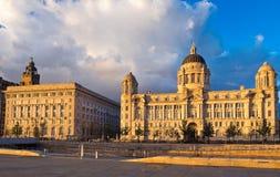 Edificio reale di Cunard e del fegato Fotografia Stock Libera da Diritti