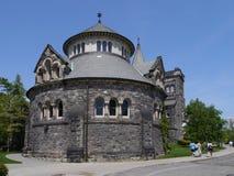Edificio redondo de la universidad Imagenes de archivo