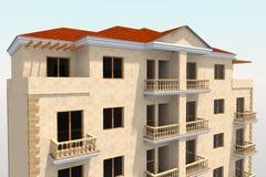 edificio residencial 3D Fotos de archivo