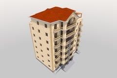 edificio residencial 3D Imágenes de archivo libres de regalías