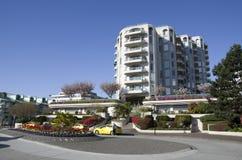 Edificio residencial de lujo Vancouver A.C. Canadá Foto de archivo libre de regalías