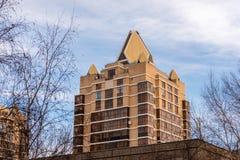 Edificio residencial en Astaná Imágenes de archivo libres de regalías