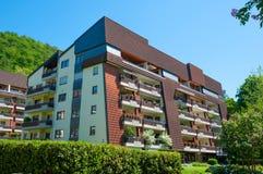 Edificio residencial en ciudad de mún Harzburg en Alemania fotos de archivo