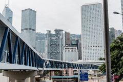 Edificio residencial en Hong Kong céntrico foto de archivo libre de regalías