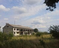 Edificio residenziale abbandonato Fotografie Stock