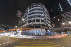Edificio residenziale abbandonato in Hong Kong Immagini Stock