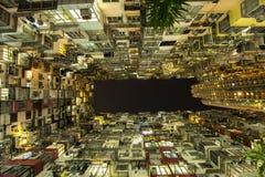 Edificio residenziale ammucchiato in Hong Kong Fotografia Stock Libera da Diritti