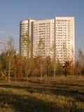 Edificio residenziale a Astana immagini stock