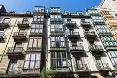 Edificio residenziale a Bilbao, Spagna Immagini Stock Libere da Diritti