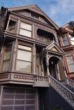 Edificio residenziale del Victorian a San Francisco Immagini Stock Libere da Diritti