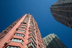 Edificio residenziale dell'alto appartamento moderno alto Immagini Stock