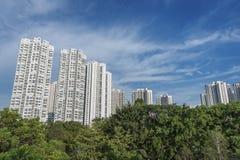 Edificio residenziale di alto aumento Immagine Stock Libera da Diritti