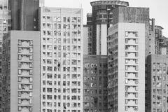 Edificio residenziale di alto aumento nella città di Hong Kong Fotografia Stock