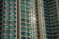 Edificio residenziale di densità di Hign in Hong Kong Fotografia Stock
