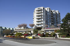 Edificio residenziale di lusso Vancouver BC Canada Fotografia Stock Libera da Diritti