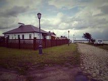 Edificio residenziale, gruppo, Sviyazhsk, Russia fotografie stock libere da diritti