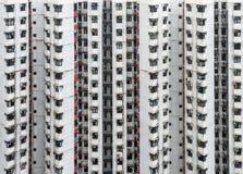 Edificio residenziale sovraffollato in Hong Kong Immagini Stock