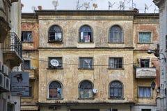 Edificio residenziale a Tangeri fotografie stock libere da diritti