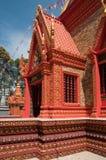 Edificio rico adornado del templo en Camboya Imagen de archivo libre de regalías