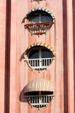 Edificio rojo Imagenes de archivo