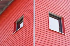 Edificio rojo Foto de archivo