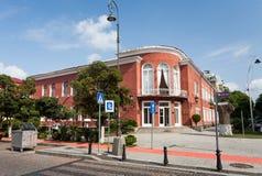 Edificio rojo en Batumi Imagen de archivo libre de regalías