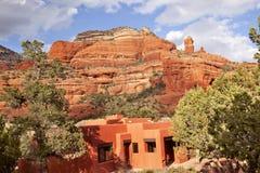 Edificio rojo Sedona Arizona de la barranca de la roca de Boynton Imagen de archivo libre de regalías