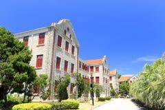 Edificio scolastico antico nel campus universitario di xiamen, adobe rgb Fotografia Stock