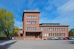 Edificio scolastico di ballo in Pori, Finlandia fotografia stock libera da diritti