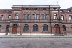 Edificio scolastico di vecchia scuola Fotografia Stock Libera da Diritti