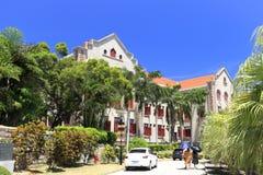 Edificio scolastico di vecchia scuola nel campus universitario di xiamen, adobe rgb Immagini Stock Libere da Diritti
