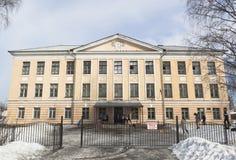 Edificio scolastico nessun 92 nella città di Vel'sk fotografia stock