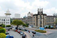 Edificio servizi ferroviario in Kuala Lumpur fotografia stock libera da diritti