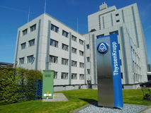 Edificio soluciones AG, Beckum, Alemania de Thyssen-Krupp fotografía de archivo