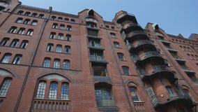 Edificio Speicherstadt-Hamburgo-HafenCity-Alemania Foto de archivo libre de regalías