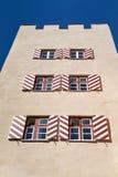 Edificio storico del Roter Turm in Wasserburg fotografie stock