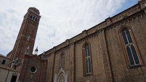 Edificio storico di Santa Maria della chiesa nella vecchia città immagini stock libere da diritti