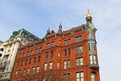 Edificio storico di SunTrust con la torre di orologio in Washington DC del centro Immagine Stock Libera da Diritti