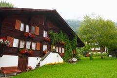 Edificio suizo en Wengen fotografía de archivo libre de regalías