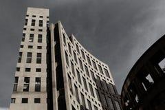 Edificio tempestuoso del coliseo fotos de archivo libres de regalías