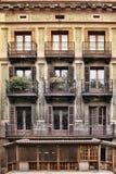 Edificio tipico di Art Nouveau a Barcellona Fotografie Stock Libere da Diritti