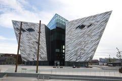 Edificio titánico de Belfast Fotos de archivo libres de regalías