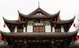 Edificio tradicional chino con la linterna Imagen de archivo libre de regalías