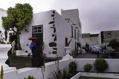 Edificio tradicional en Teguise Imagen de archivo libre de regalías